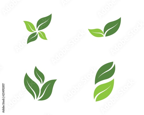 Fototapeta green leaf ecology nature vector icon obraz na płótnie
