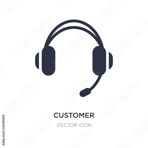 Fotografia  customer service headset icon on white background