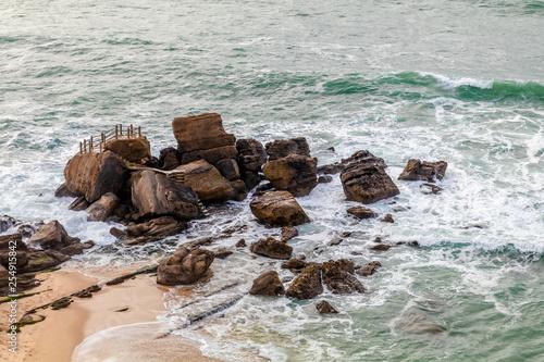 Poster Cote Vista da Praia de Santa Cruz em Torres Vedras Portugal