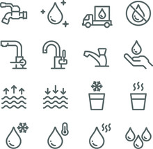 Water Icon Set. Contains Such ...