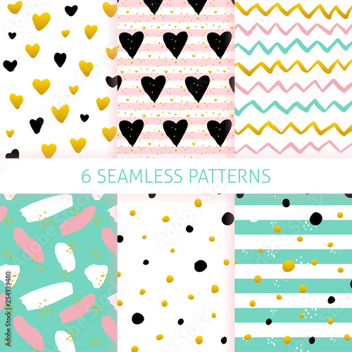 Recess Fitting Pattern Mothers Day Trendy Seamless Patterns