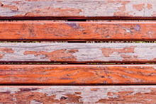 Old Wooden Bench With Peeling Paint