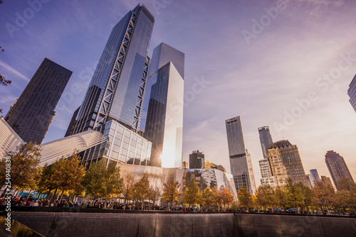 Perspective from below the One World Trade Center in New York Canvas Print