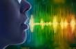 Leinwandbild Motiv woman speaking, voice recognition concept