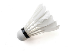 Badminton Ball Or Shuttlecock Isolated On White Background With Clipping Path
