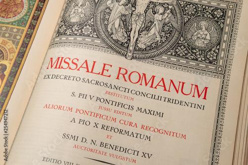 Slika na platnu Liturgical Book Order of Mass in Latin