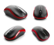 Set Of Modern Computer Mice On...