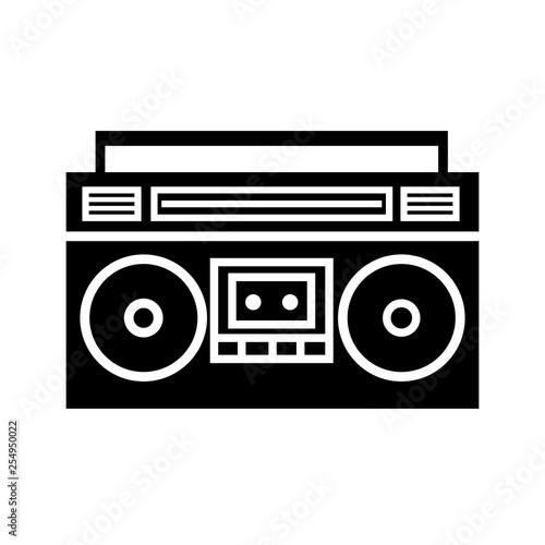 Photo Boombox ghetto blaster silhouette icon