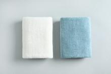 Fresh Fluffy Folded Towels On ...