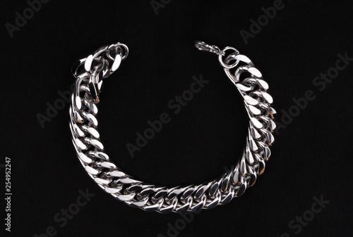 Fotografia  Men's  Stainless Silver Bracelet