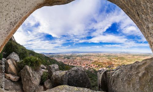 Photo  Vista Panoramica di Guspini da Sa Rocca - Sardegna - Italia