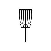 Disc Golf Basket Icon. Clipart...