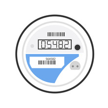 Electricity Smart Meter Icon. ...