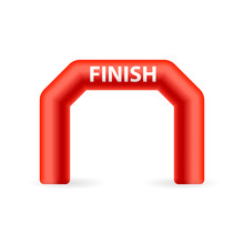 Inflatable Finish Arch Icon. Clipart Image Isolated On White Background
