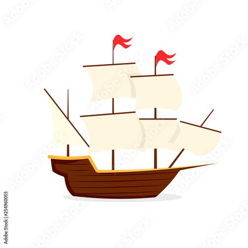Fényképezés Mayflower ship icon. Clipart image isolated on white background