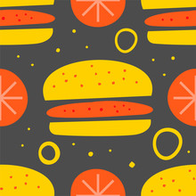 Sandwich And Tomatoes Vector S...