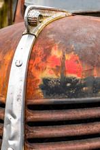Rusty Antique Vintage Dodge Truck Hood Ornament