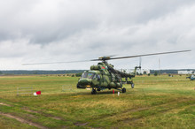 Military Helicopter Preparing ...