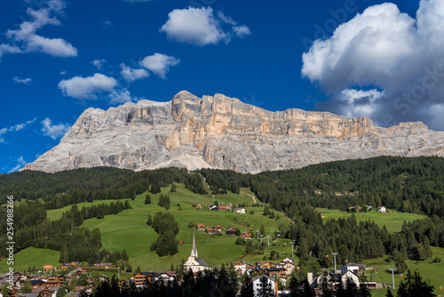 Sasso di Santa Croce in eastern Dolomites, Badia valley, South Tyrol, Italy Canvas Print