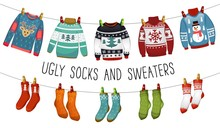 Ugly Sweaters And Socks Collec...