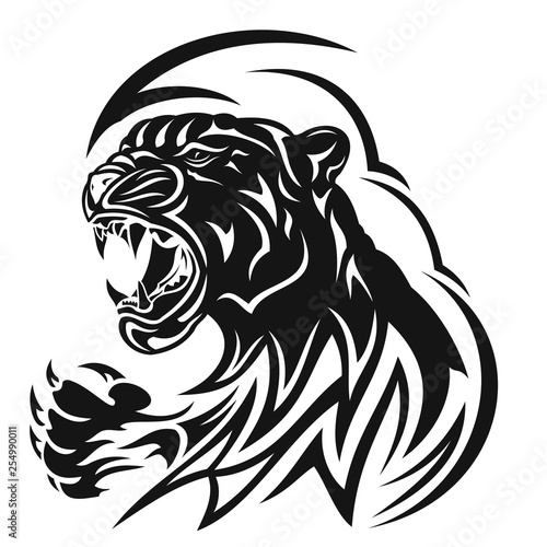 Fototapety, obrazy: Tiger_0001_Anger and rage