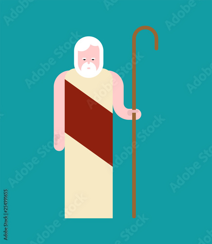 Noah Preacher old man. Bible man saved by God from the Flood Fotomurales