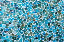 Irregular Shaped Seas Glass Tile Mosaic Wall