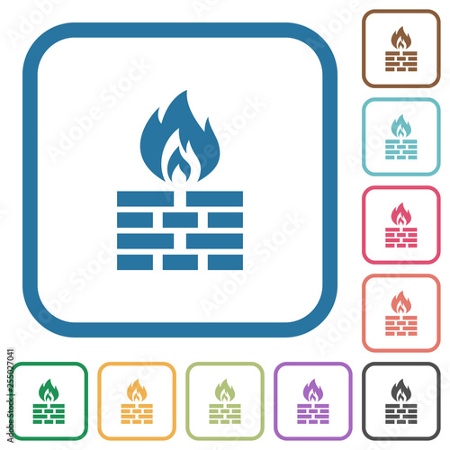 Fotografía  Firewall simple icons