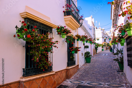 Fototapety, obrazy: Street. The picturesque street of the city of Estepona. Costa del Sol, Andalusia, Spain. Picture taken – 12 March 2019.