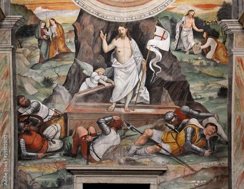 Fotografie, Obraz  Resurrezione; affresco nel Coro delle Monache; Brescia, complesso di Santa Giuli