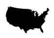 USA map icon simple style vector isolated image