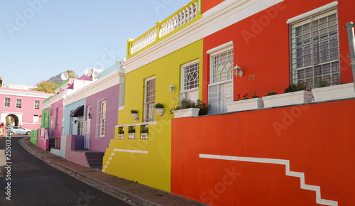 Colourful houses in Bo-Kaap District of Cape Town, South Africa. Wallpaper Mural