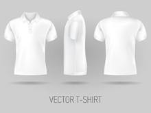 White Short Sleeve Polo Shirt ...
