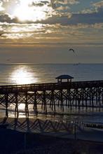 Scenic Folly Beach Pier At Sun...