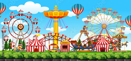 Fotografie, Tablou A theme park scene