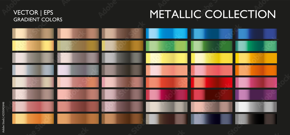 Fototapeta Holographic multicolor palette set. Vivid color gradient for screen, mobile, banner, tag, label template.