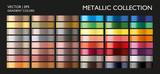 Holographic multicolor palette set. Vivid color gradient for screen, mobile, banner, tag, label template.