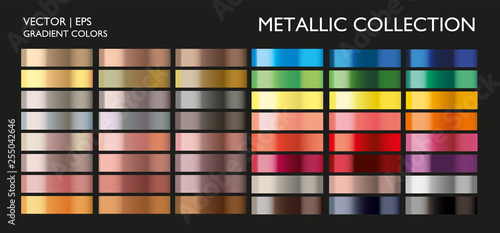 Obraz Holographic multicolor palette set. Vivid color gradient for screen, mobile, banner, tag, label template.  - fototapety do salonu