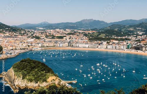 Fotografie, Obraz  View of the beach in San Sebastian, Spain