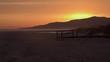 Stunning deep orange sunsets at Tarifa beach.