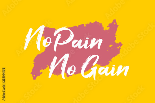No Pain No Gain Fototapet