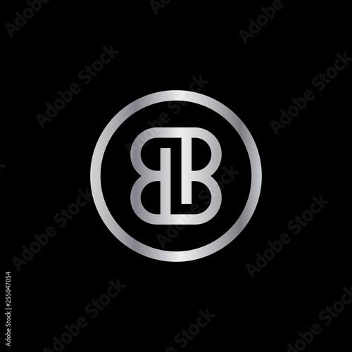 Photo letter BB with circle frame design vector illustration