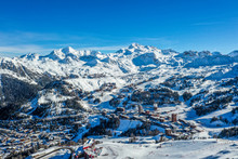 Above The Ski Resort In The French Alps