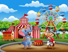 Circus Ringmaster Performs A T...