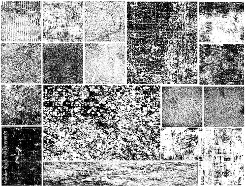 Photo  Set of grunge textures. Vector abstract backgrounds