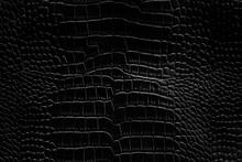Black Crocodile Leather Textur...
