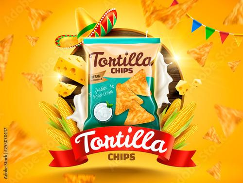 Fotografía  Tortilla chips ads