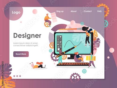 Fotomural  Designer vector website landing page design template