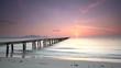 Steg am Strand Mallorca Sonnenaufgang
