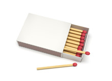 Box Of Matches. Blank Package. 3d Rendering Illustration Isolated